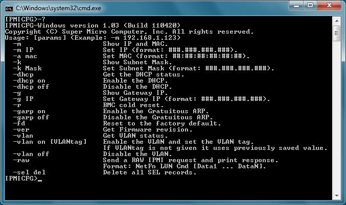 IPMI Konfiguration für Supermicro Server mittels ipmicfg