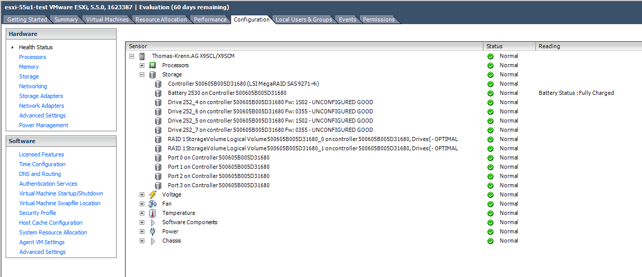 VMware ESXi 5 1 and 5 5 show UNCONFIGURED GOOD for