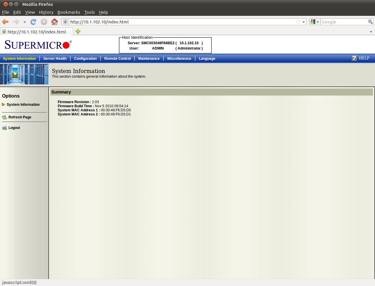 Nuvoton WPCM450R IPMI Chip with AMI-Software - Thomas-Krenn-Wiki