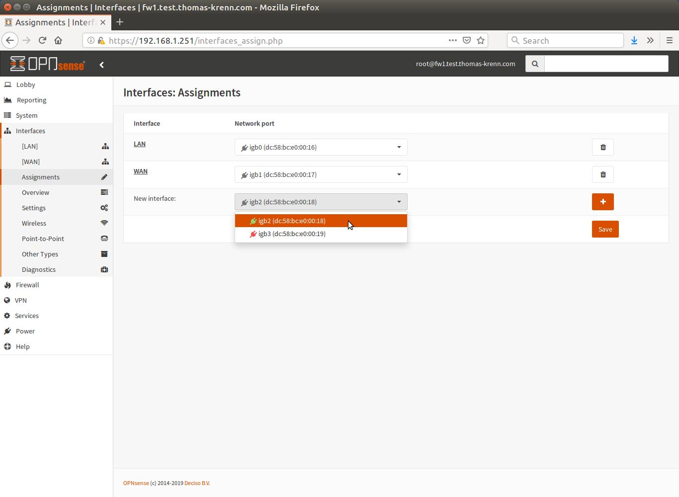 OPNsense add interface - Thomas-Krenn-Wiki
