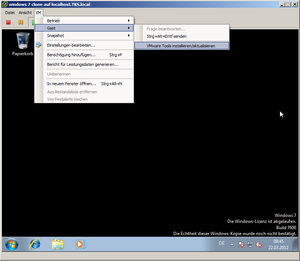 Installing the VMWare tools