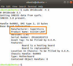 how to find motherboard serial number in linux