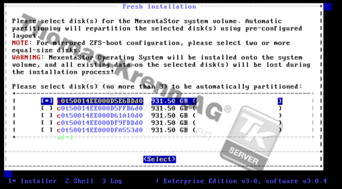 Nexenta checking available disks.png