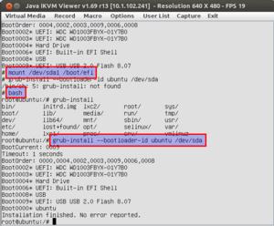 Ubuntu UEFI Booteinträge nach BIOS/Grub Update