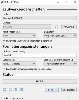 Bootfähigen DOS USB-Stick erstellen – Thomas-Krenn-Wiki