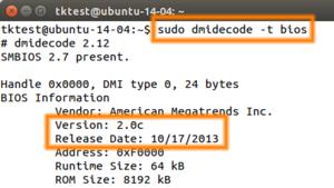 BIOS-Version unter Linux mittels dmidecode auslesen – Thomas-Krenn-Wiki