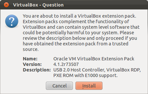 oracle vm virtual box extension pack