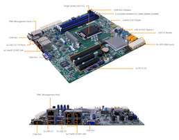 Server 1U Intel Single CPU RI1102H - Mainboard labeling Supermicro
