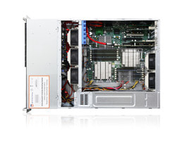 3HE Intel Dual-CPU SC835 Server - Innenansicht
