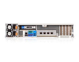 2HE OpenPOWER Single-CPU RP2112 Server - Rückansicht