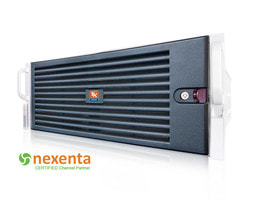 NexentaStor Unified Storage RI2424 - Frontansicht mit Blende