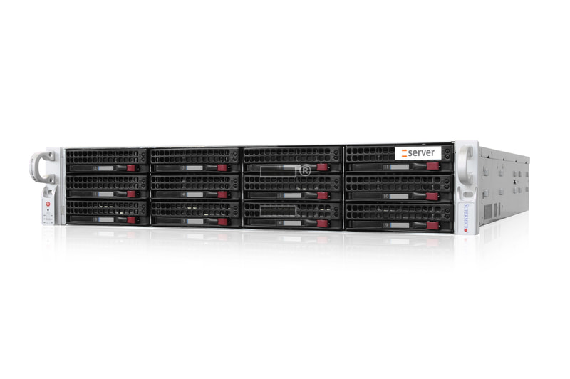 2HE AMD Dual-CPU SC826 Server - Frontansicht