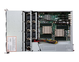 4HE Intel Dual-CPU SC847 Server - Innenansicht