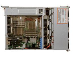 3U AMD Dual CPU SC836 - Vista interna