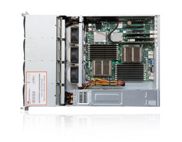 Server 2U Intel Dual CPU SC826 Server - Vista interna