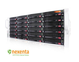 NexentaStor SC846 Unified Storage - Widok z przodu