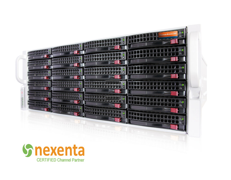NexentaStor SC846 Unified Storage - Frontansicht