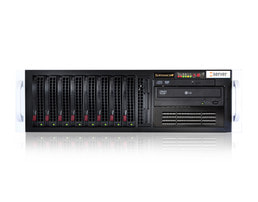3HE Intel Dual-CPU SC835 Server - Frontalansicht