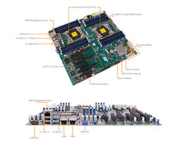 4HE Intel Dual-CPU RI2424 Server - Detailansicht Mainboard
