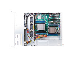 2U Intel Dual-CPU RI2224 Server - Internal view