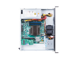 1U Intel single-CPU RI1102H Servidor - interior view