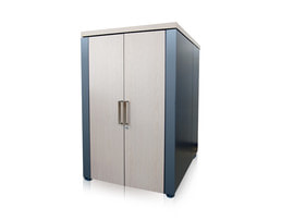 Sound insulated server cabinet 24U - front view