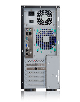 Server-Tower Intel Single-CPU SR105 Silent - Rear view