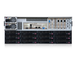 4HE Intel Dual-CPU SC847 Server - Rückansicht