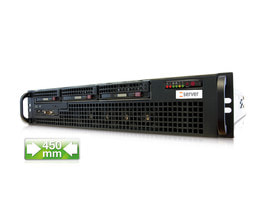 2U Intel Single-CPU RI1203H Server - Front view