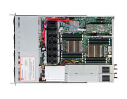 1U Intel Dual-CPU SC815R Server (Sandy-Bridge EP) - interior view